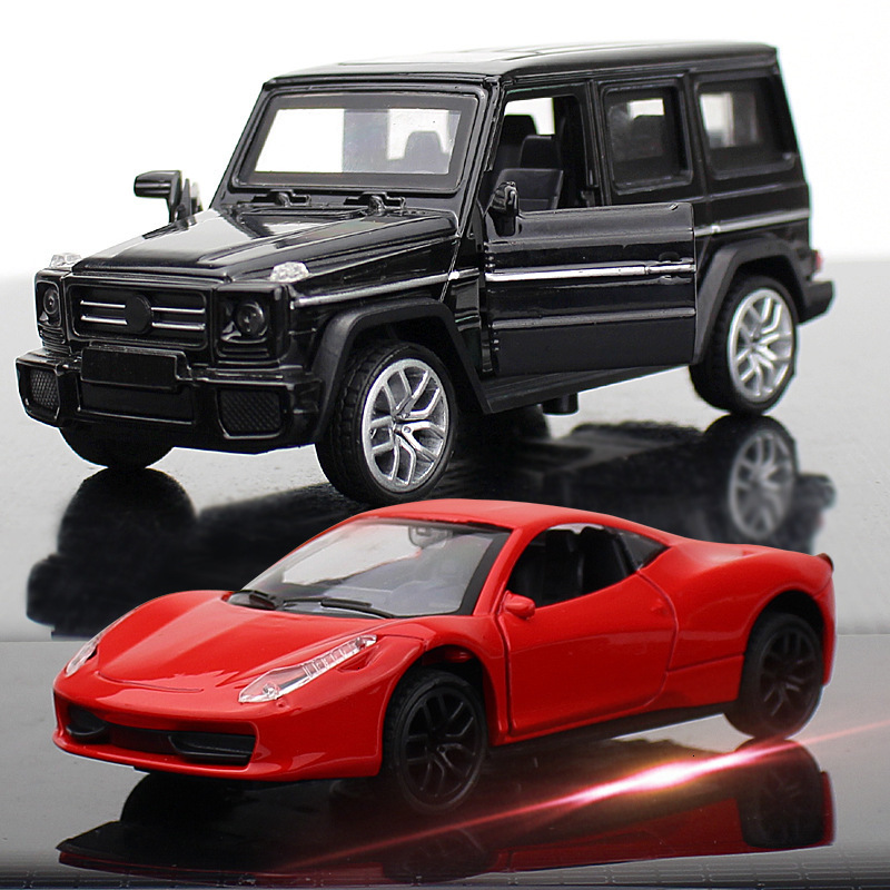Various Models  Diecast Metal Car Models High Simulation Vehicle Toy With Light Music 6 Doors Can Be Opened Gifts For Children