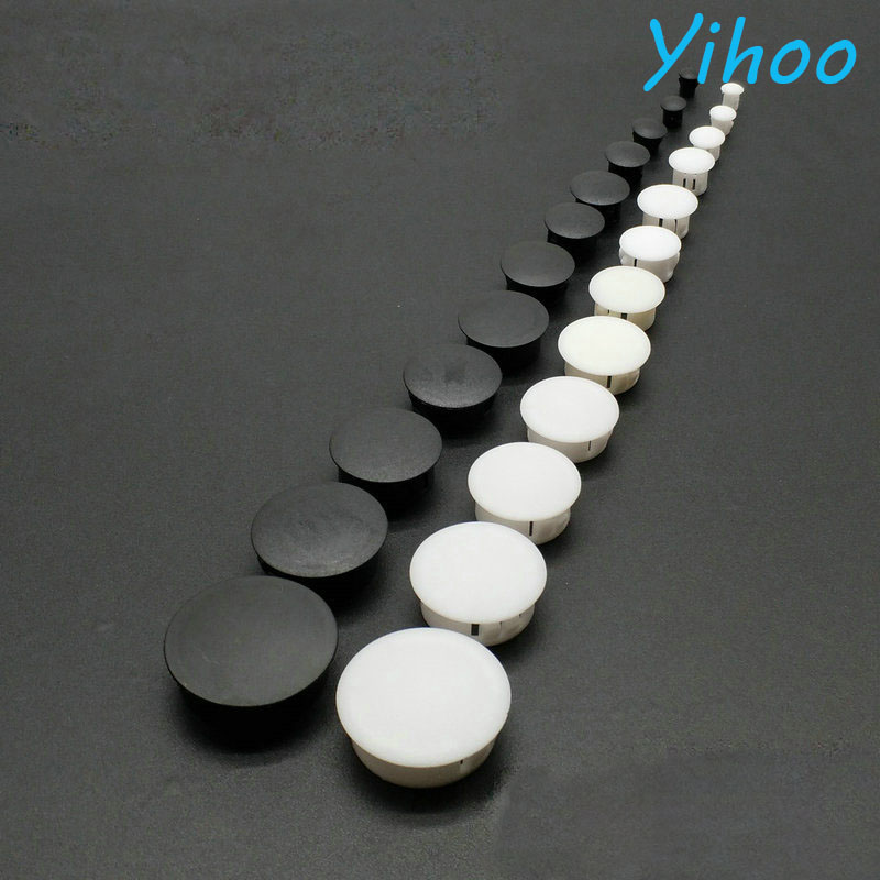Plastic Plugs Flat Head Reserved Hole Plugging Panel Kongsai Hole Cover Decorative Cap Dust Plug Computer Table PC Desk