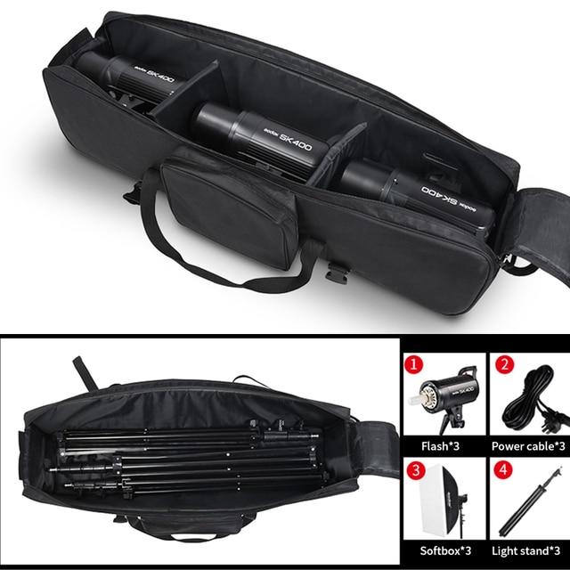 Portable Bag Studio Flash Light & Tripod light Stand Carry Bag For Photography Bag Kits