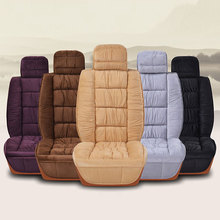 2019 DJSona Universal Winter Car Seat Cover Warm Plush Cushion Faux Fur For Protector Mat Interior Accessories