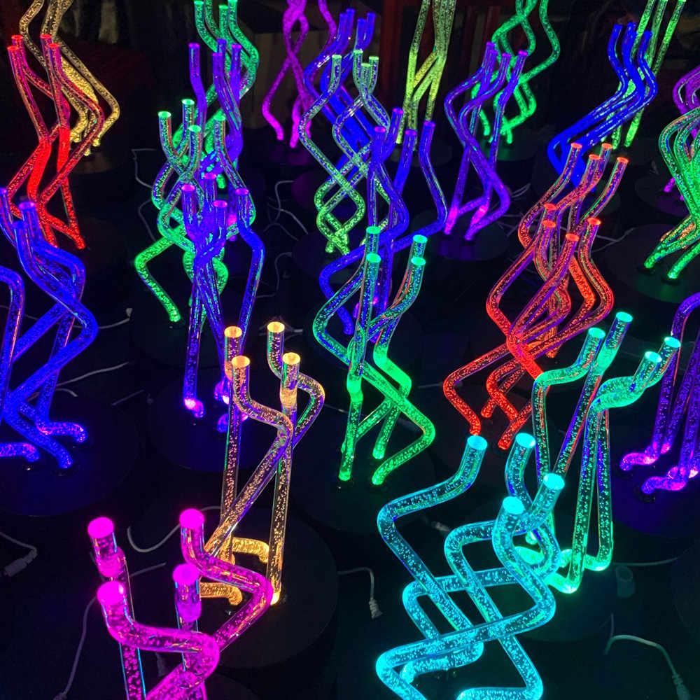 2019 חידוש LED מסתובב צבע שינוי לילה אור מקלות הזמן מתפתל יפה בית תפאורה חג המולד מתנות USB/AA כוח