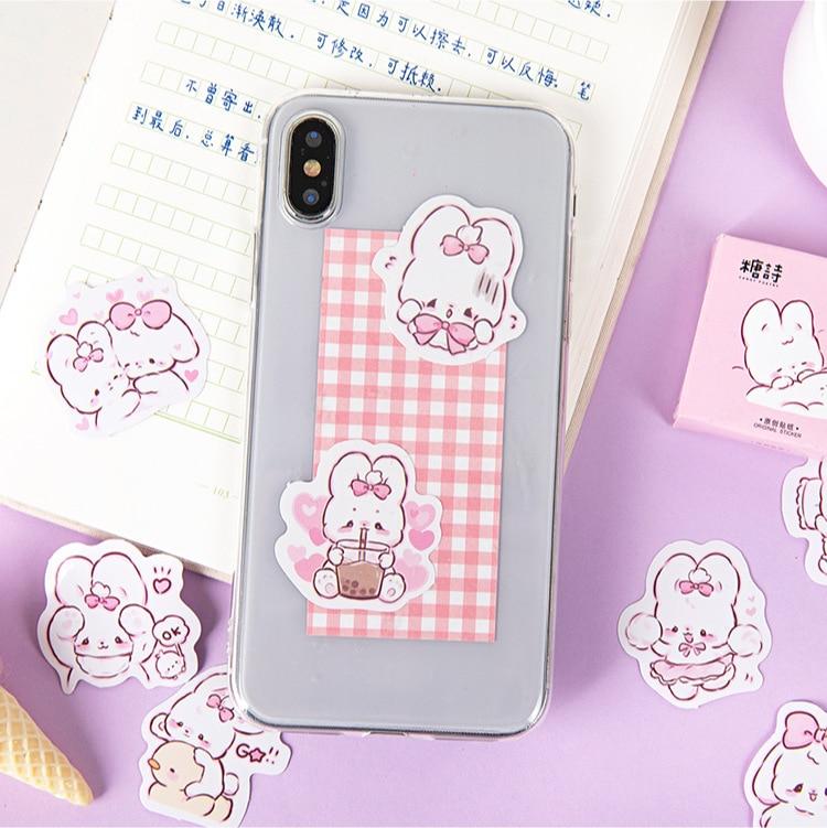 45 шт./кор. в виде милого кролика на каждый день, маленькие милые украшения наклейки планировщик для скрапбукинга канцелярские товары в Корейском стиле наклейки для дневника-3
