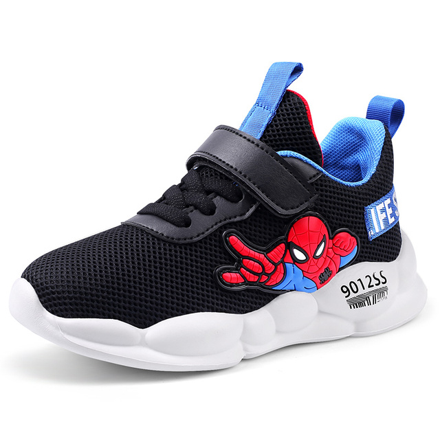 New Autumn Lightweight Kids Spider-man Casual Sport Running Breathable Shoes