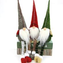 Christmas Pendant Drop Ornaments Decoration Sitting Long-legged Elf Festival New Year Party gift Decorations for House