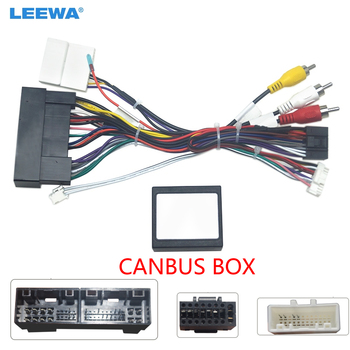 Radio de coche LEEWA, Audio de 16 Pines, Calbe de potencia Android con caja Canbus para Hyundai Elantra KIA K3 Sorento, adaptador de arnés de cableado #6499