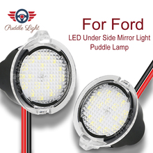 LED Under Side Mirror Puddle Light For Ford Edge Explorer Mondeo F-150  Mustang Fusion Flex Expedition Taurus E X King Ranch lonleap courtesy lights under side mirror puddle light for ford edge mondeo taurus f 150 expedition 2 pcs led car additional