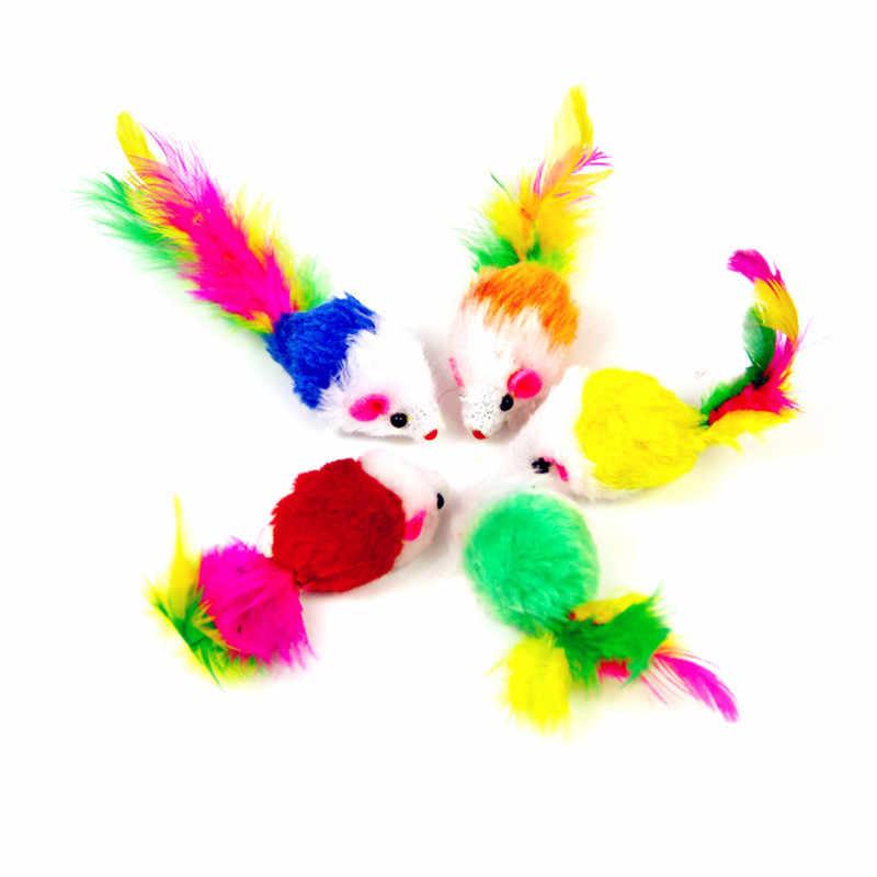 새 고양이 쥐 장난감 False 마우스 대화 형 미니 재미 있은 봉제 동물 고양이를위한 장난감을 재생 새끼 고양이 완구 @ 03