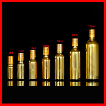 5/10/15/20/30/50/100ml gold plated glass  bottle container,essentical oil bottle  refillable cosmetics bottles