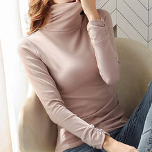 Fashion Thick Warm Velvet Blouse Cotton Turtleneck Casual Winter Lady Slim Bottom Tops Female Women Long Sleeve Blusas Pullover(China)