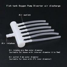 Аквариум кислорода сплиттер насоса трубы кислорода многоходовый Комбинированный воздушный компонентов аквариумный кислородный насос воз...