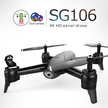 SG106 Drone Dual Camera 4K 720P 1080P WiFi FPV Real Time Aerial Video MV Filter Wide Angle Optical Flow RC Quadcopter