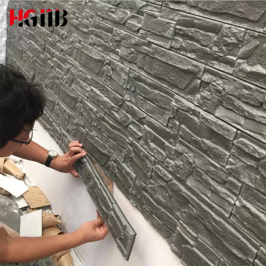 3D Wall Sticker For Living Room 3D Brick Wallpapers For Kids Room Bedroom Home Decor 3D Waterproof Self Adhesive Wall Paper