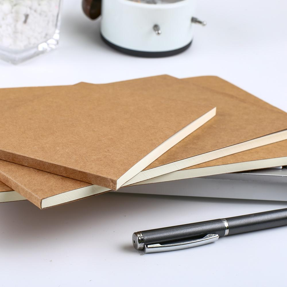 Korean Kraft Paper Blank Notebook Sketchbook Drawing Office Accessory Stationery A5 A4 B5 Shopping List to do Check Planner Item