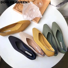 Fashion Stretch Knitting Casual Shoes Women Flats Ballet Slip On Loafers Pointed Toe Flat Ballerina Soft Moccasins zapatos mujer цены