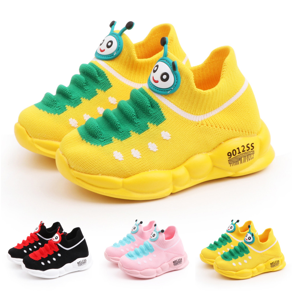 Kids Shoes Girls Boys Sport Stretch Mesh Shoes Cartoon Infant Kids Baby Running Sneakers Winter Autumn Casual Shoes