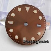 Corgeut 28,5mm reloj diales estériles fit ETA 2836 2824 MINGZHU dg2813 DG3804,Miyota 82 series movimiento hombre reloj Accesorios