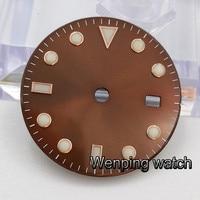 Corgeut 28.5mm watch sterile dials fit ETA 2836 2824 MINGZHU dg2813 DG3804 Miyota 82 series movement men watch Watch Accessories
