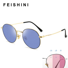 FEISHINI Oval Computer Goggles Women Day And Night Driving Glasses Ladies Vintag