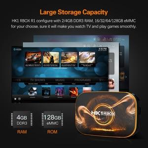 Image 3 - 2020 Smart TV BOX HK1 R1 Max 4GB 128GB TV Box z systemem Android 10 Android 10.0 Rockchip RK3318 4K 60fps USB3.0 sklep Google play Youtube