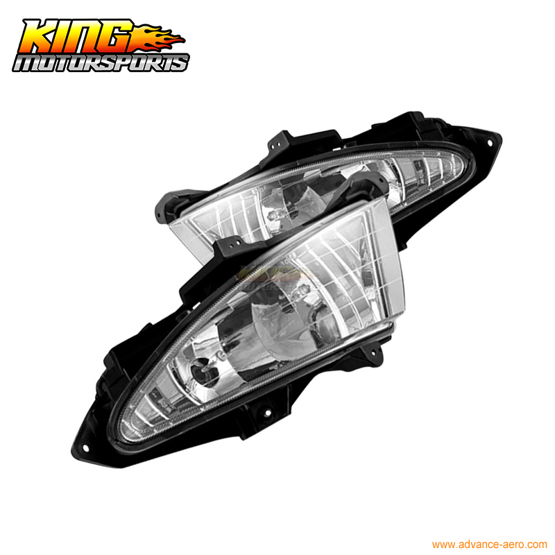07-10 Hyundai Elantra Fog Lights Wiring Kit Included Clear Lamps Fits