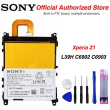 Original Sony LIS1525ERPC Battery For sony Xperia Z1 L39H C6902 C6903 3000mAh mooncase лич кожи кожа флип сторона кошелек держателя карты чехол с kickstand чехол для sony xperia z1 l39h грин