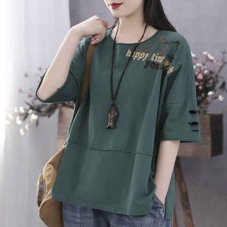 Lástima mujer personalidad agujeros fácil tiempo de ocio Fivepence manga a código chaqueta 0222 # cúrcuma Color M 100 Jin siguientes