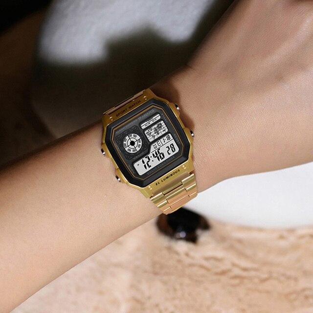PANARS Watch Men Women Sport Relogio Masculino Digital Watches Chronograph Waterproof Watch Stainless Wristwatches Male Clock 6