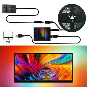 Tv ambiente led tiras usb conjunto completo led fita de luz hdtv computador sonho cor sincronização com tela diy backlight strip kit