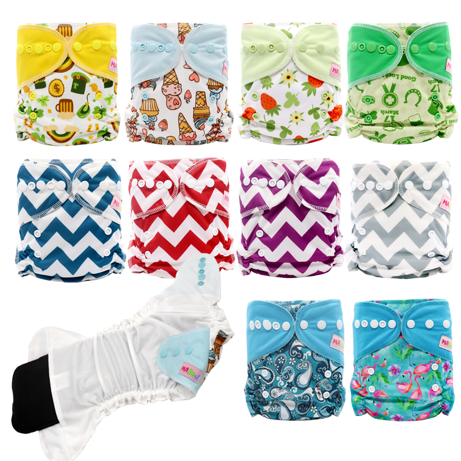 MABOJ Cloth Diaper Pocket Reusable Diapers Couche Lavable Baby Nappies Nappy Cover Waterproof Newborn One Size Traning Panties