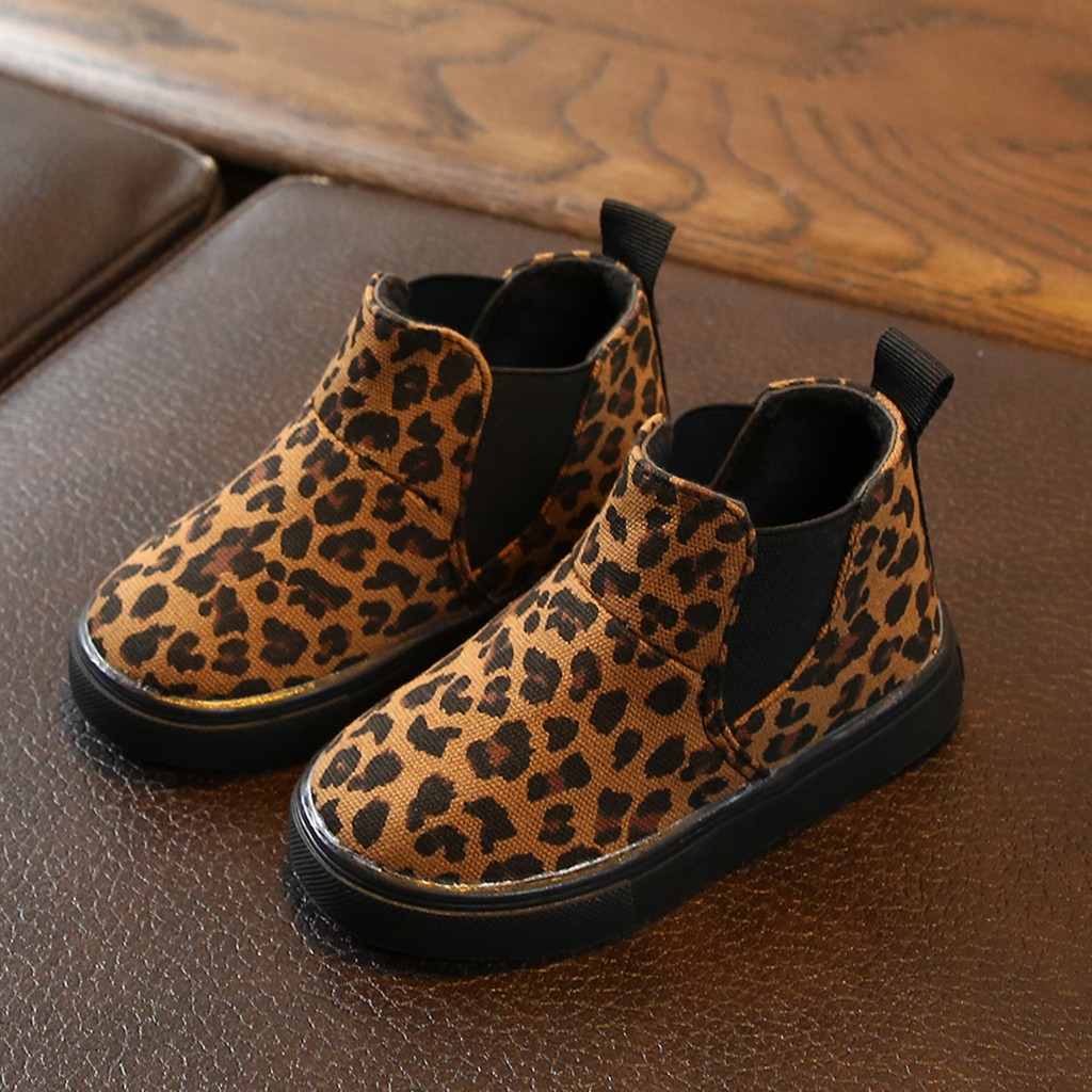 Baby Shoes 2019Top Children Kids Baby Girls Boys Leopard Winter Warm Short Boots Casual Shoes For Children Chaussures BeBe
