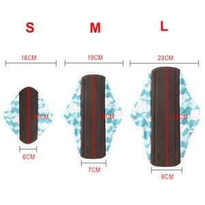 Image 5 - Многоразовые гигиенические прокладки для женщин, 5 шт., многоразовые гигиенические прокладки, абсорбирующие многоразовые бамбуковые менструальные прокладки для угля, моющийся Санитарный Полотенце