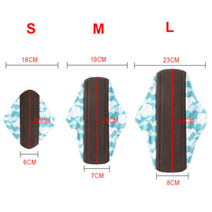 Image 5 - 5Pcs Women Menstrual Pads Reusable Sanitary Napkin Absorbent Reusable Charcoal Bamboo Menstrual Pads Washable Sanitary Towel