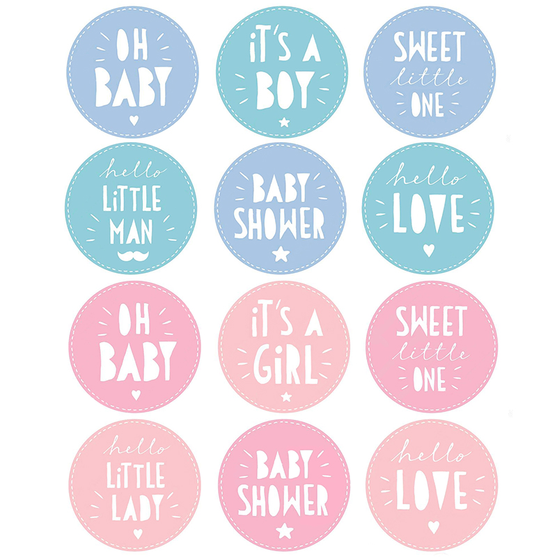24/48pcs It Is A Boy/girl Stickers Decoration Baby Shower OH Baby Boy Or Girl Vote Gift Bag Sticker For Gender Reveal Party