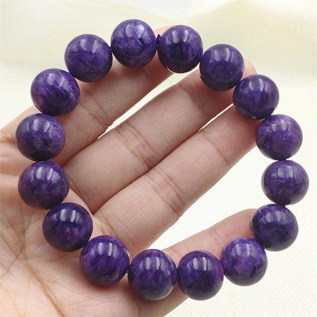 Бусины шармы из натурального фиолетового хароитного браслета