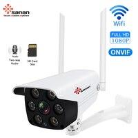 Sanan IP Camera 1080P Outdoor Wifi Camera H.264 Waterproof IR Night Vision Security CCTV Camera Double Antenna Onvif Yoosee