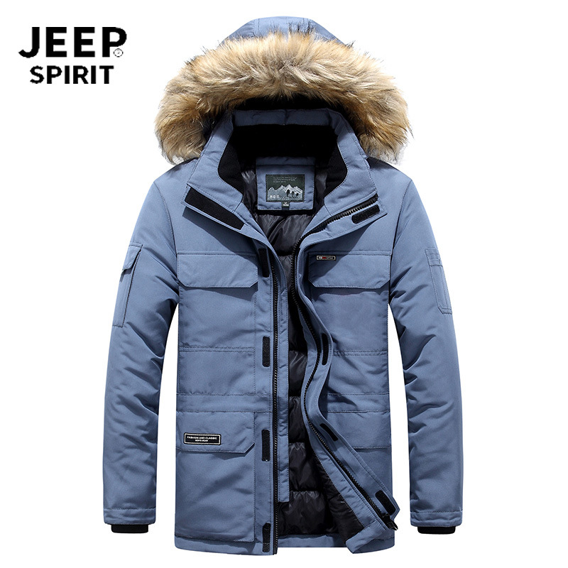 JEEP SPIRIT Winter Jacket Men Parka Coat Thick Warm Coat Men Windbreaker Fur Hooded Jackets Parkas Abrigo Hombre Plus Size M-6XL