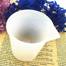 5*7cm White Silicone Measuring Cup Resin Silicone Mould Handmade DIY Jewelry Making Tool Epoxy Resin Cup Crystal Scale