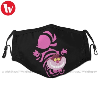 Wonderland Mouth Face Mask De Su Art Cheshire The Cat Facial Cool Kawai with 2 Filters for Adult