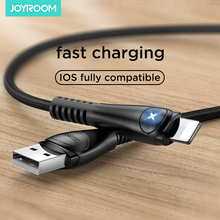 Nylon Braided Phone USB Cable For iPhone Fast Charger USB Cables For iPhone 11 Pro Max X 8 7 6 iPad Data Wire W/ Led Indicator
