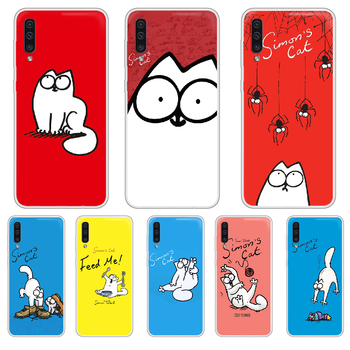Simons Cat Phone Case cover For XIAOMI Redmi Note 3 4 5 6 7 8 9 9s Pro max 8T 4X transparent hoesjes silicone coque tpu Etui image