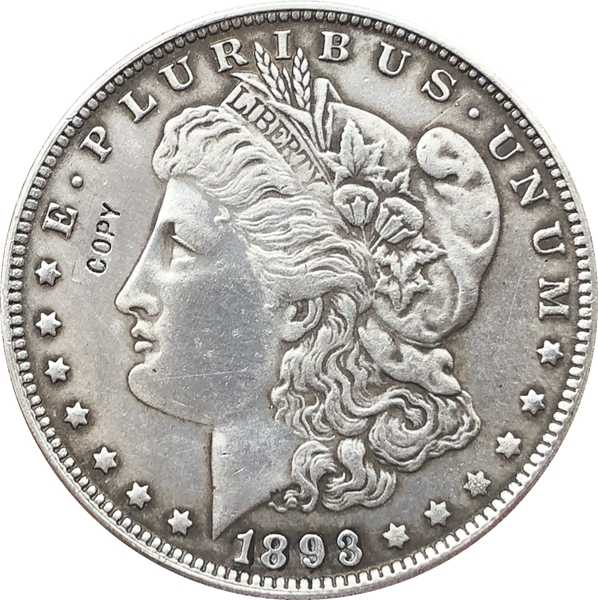 1893-S VS Morgan Dollar munten KOPIËREN