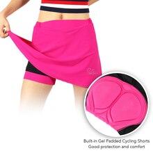 Для женщин 2-в-1 Велоспорт шорты наборы для ухода за кожей с гель мягкий вкладыш велосипедные шорты быстросохнущая Спортивная юбка для езды на велосипеде