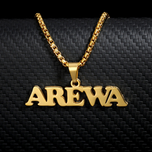 Fashion Gold Two Name Necklace Collares Handmade Stainless Steel Custom Name Pendant Necklaces For Women Men Hip Hop Jewelry BFF
