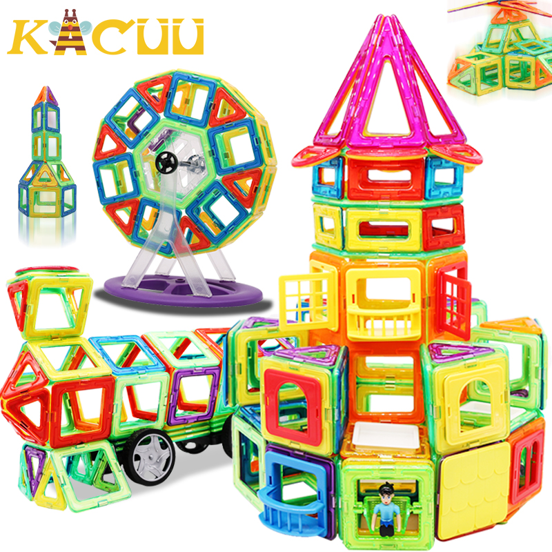 10 Piece Magnetic Large Tiles Building Blocks Toys for Kids Educational Square