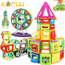 82 sztuk Big Size klocki magnetyczne trójkąt kwadratowy konstruktor cegła projektant oświecić zabawki magnetyczne dla dzieci prezent