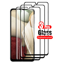3PCS Protective Glass For samsung GALAXY A12 Screen Protector Tempered Glass On For samsung A125F Camera lens Safety Front Film