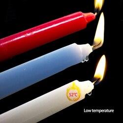 3 uds vela de temperatura baja Bdsm velas de goteo SM ataduras de cama para Mujeres Hombres Bondage Sensual cera erótico juguete adulto juego herramienta