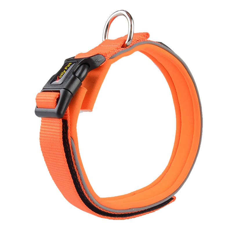 Awesome Big Dog Neck Ring Puppy Anti Le Neck Ring Golden Retriever Soft Nylon Reflective Pet Traction Collar