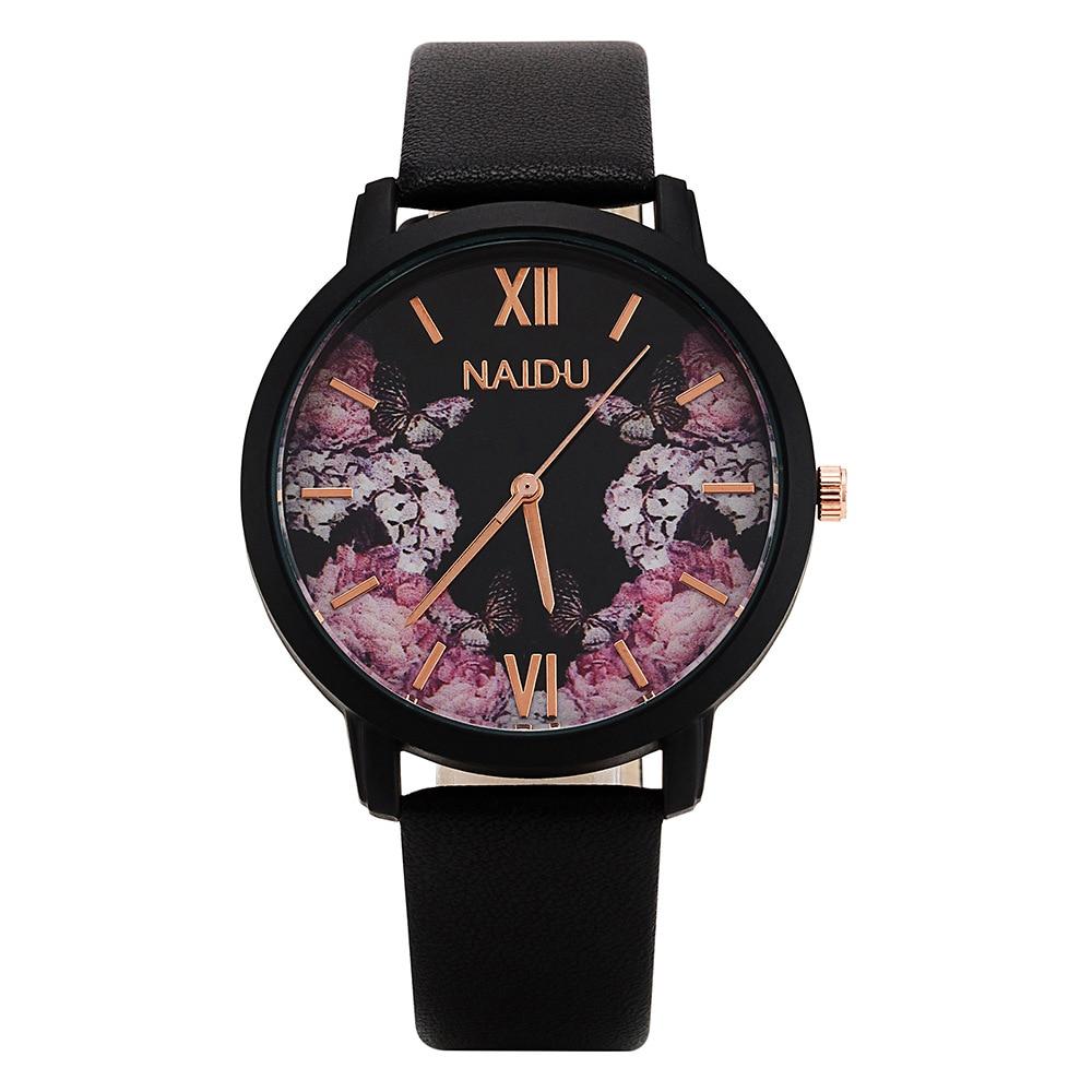 Ladies Designer Bracelet Wristwatches Flower Dial Luxury Fashion Dress Watch Women Charm Leather Strap Female Quartz Clock Hours
