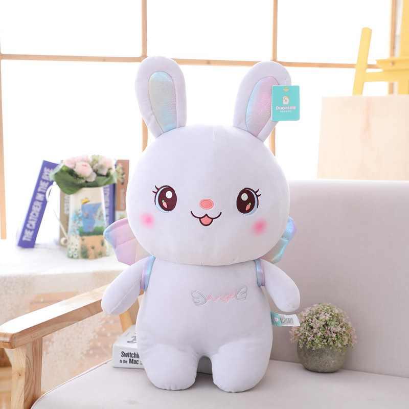 Sıcak Melek Tavşan peluş oyuncak Dolması Yumuşak Hayvan Tavşan Kanatları Bebek Bebek Çocuk Oyuncakları doğum günü hediyesi Noel Hediyesi Kızlar için